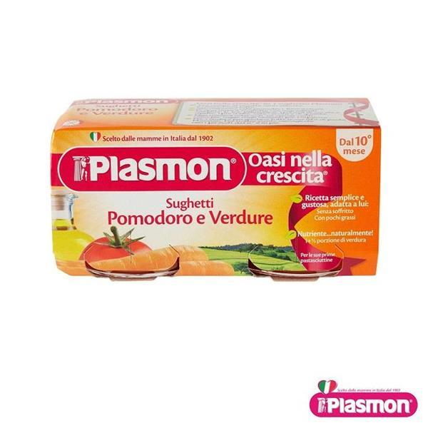 PLASMON OMO SUGO POMODORO VERDURE GR 80X2
