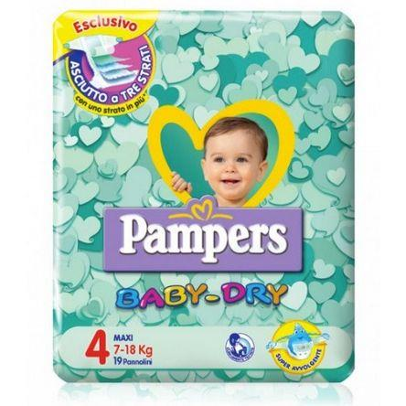 PAMPERS PANNOLINI BABY DRY 4 MAXI