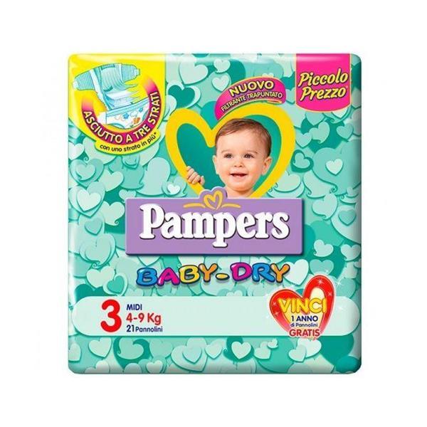 PAMPERS PANNOLINI BABY DRY 3 MIDI