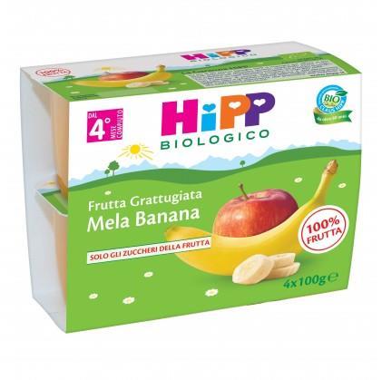HIPP FRUTTA GRATTUGGIATA MELA BANANA GR100X4