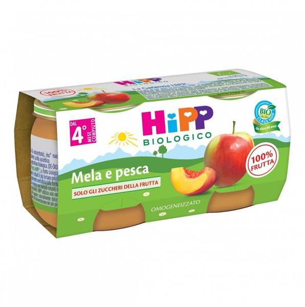HIPP OMO FRUTTA MELA PESCA GR80X2