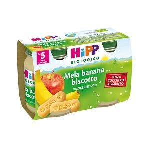 HIPP OMO MERENDA MELA BANANA BISCOTTO GR125X2