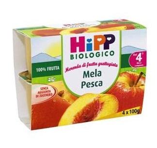 HIPP FRUTTA GRATTUGGIATA MELA PESCA GR100X4
