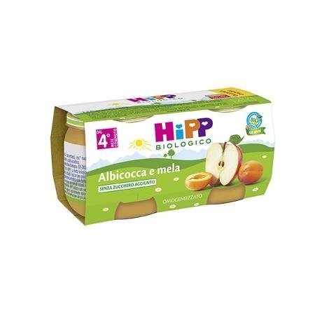 HIPP OMO FRUTTA ALBICOCCA E MELA GR80X2