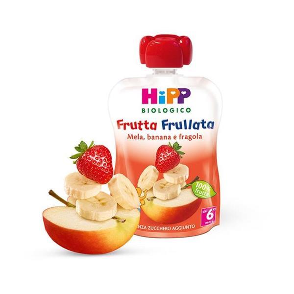 HIPP FRUTTA FRULLATA MELA/BANANA/FRAGOLA  GR90