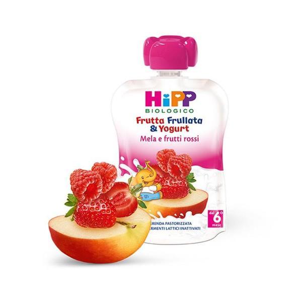 HIPP FRUTTA FRULLATA YOG MELA E FRUTTI ROSSI GR90