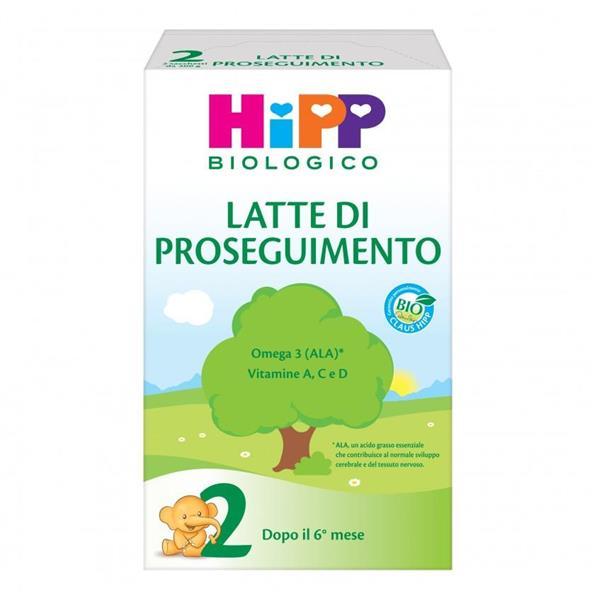 HIPP LATTE 2 PROSEGUIM.POLV.600GR BIO