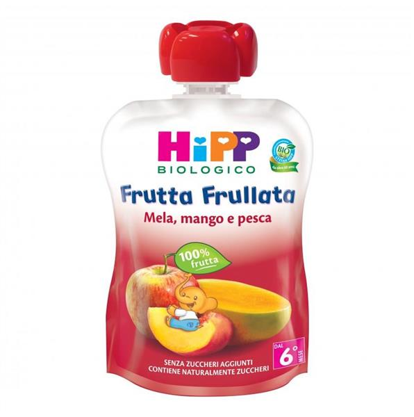 HIPP FRUTTA FRULLATA MELA PESCA E MANGO   ML90