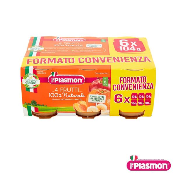 PLASMON OMO FRUTTA 6X104 GR 4 FRUTTI