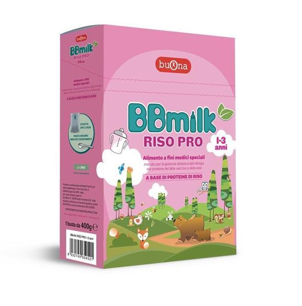 BBMILK LATTE RISO PRP 1-3 ANNI  400G