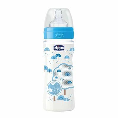 CHICCO BIBERON 330ML SIL AZZ