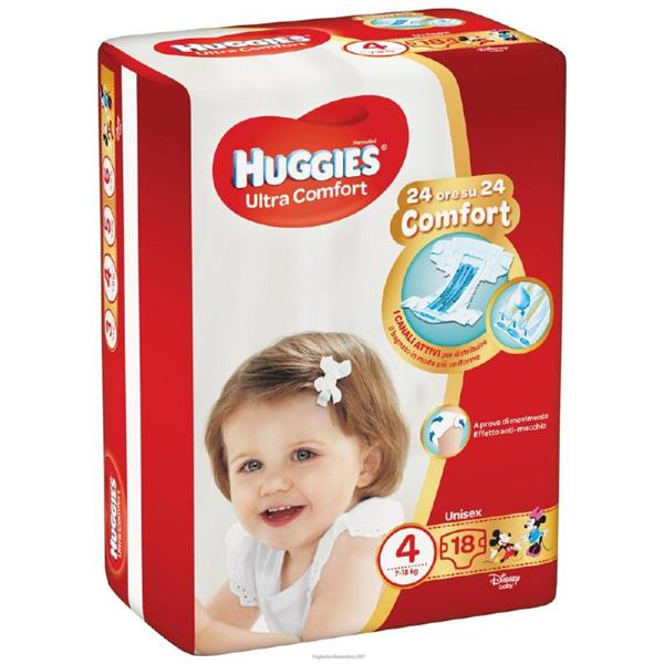 HUGGIES ULTRA CONFORT TG4 7/18