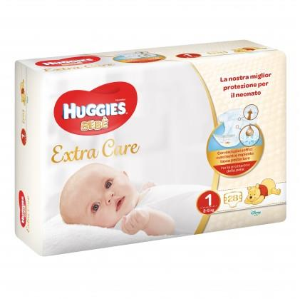 HUGGIES BEBE  EXTRA CARE 1M