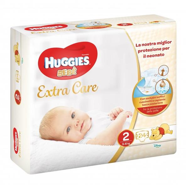 HUGGIES BEBE EXTRA CARE 2M