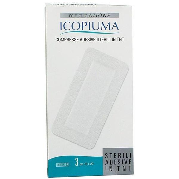 ICOPIUMA COMPRESSA ADESIVA 10X20CM 3PZ