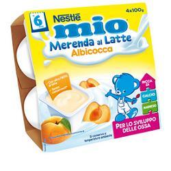 NESTLE MIO MERENDA LATTE ALBICOCCA GR 100X4