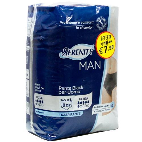 SERENITY MAN PANTS BLACK TG  L 8PZ