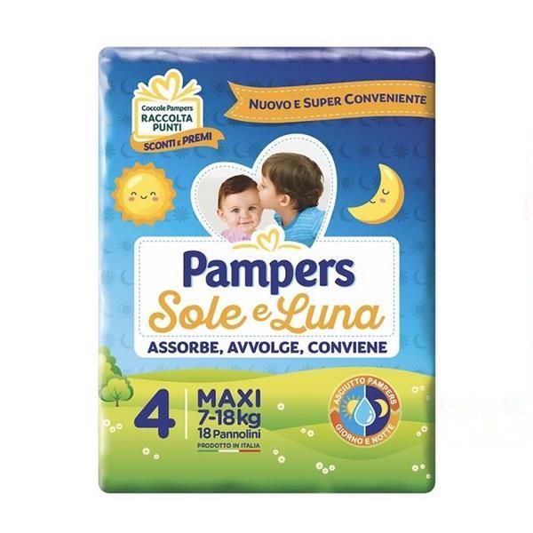 PAMPERS SOLE LUNA PANNOLINO 4 MAXI