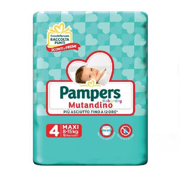 PAMPERS BABY DRY PANNOLINO MUTANDINO TG4 MAXI