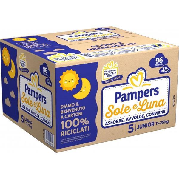 PAMPERS PANNOLINO SOLE E LUNA ESA PACCO 5 TG