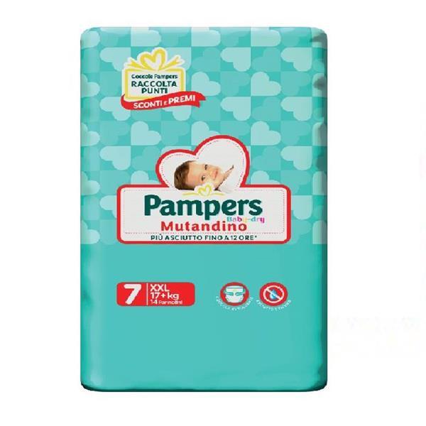 PAMPERS BABY DRY PANNOLINO MUTANDINO TG7  XXL