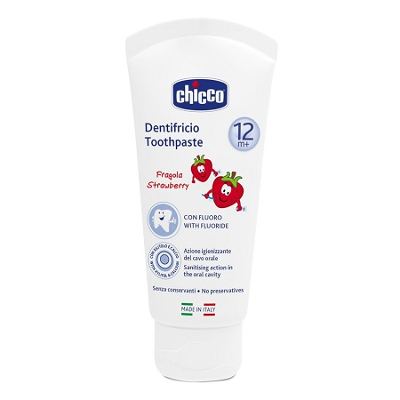 CHICCO DENTIF FRAGOLA 12M ML50