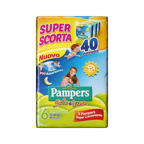 PAMPERS PANNOLINO SOLE E LUNA TRIPACK TG 6 EXTRALARGE