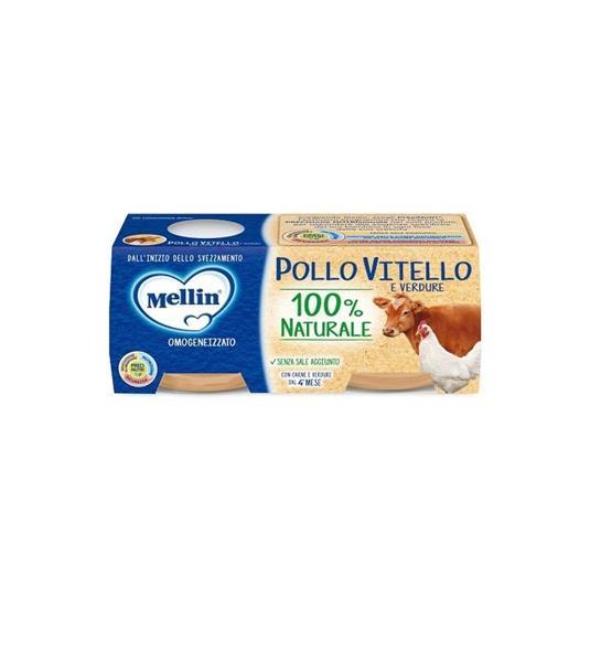 MELLIN OMO CARNE 2X80 POLLO/VITELLO