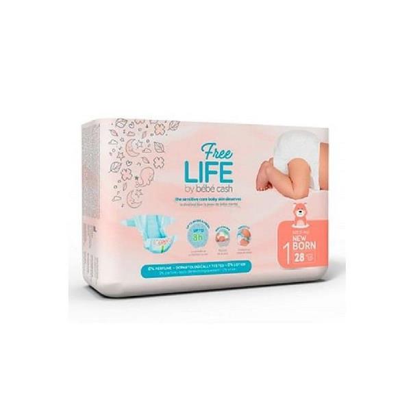 FREE LIFE PANNOLINI 1 NEW BORN 28 PZ