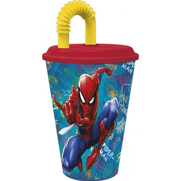 OLED SPIDERMAN BICCHIERE SPOT C/CAN 430ML