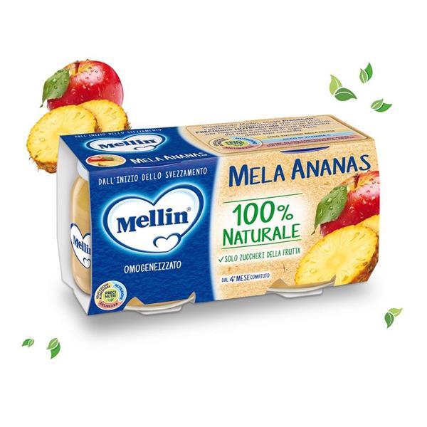 MELLIN OMO FRUTTA 2X100 MELA ANANAS