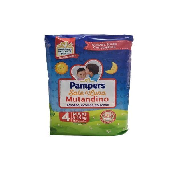 PAMPERS PANNOLINO SOLE E LUNA MUTANDINO TG4 MAXI