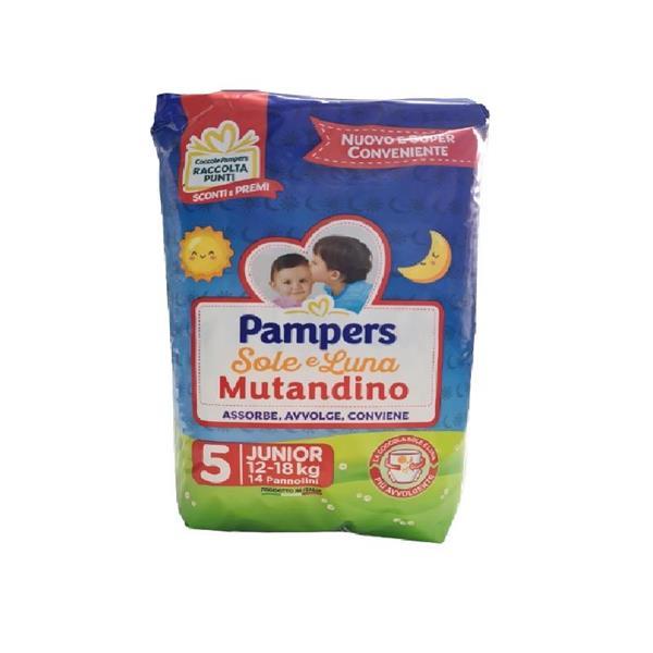 PAMPERS PANNOLINO SOLE E LUNA MUTANDINO TG5 JUNIOR