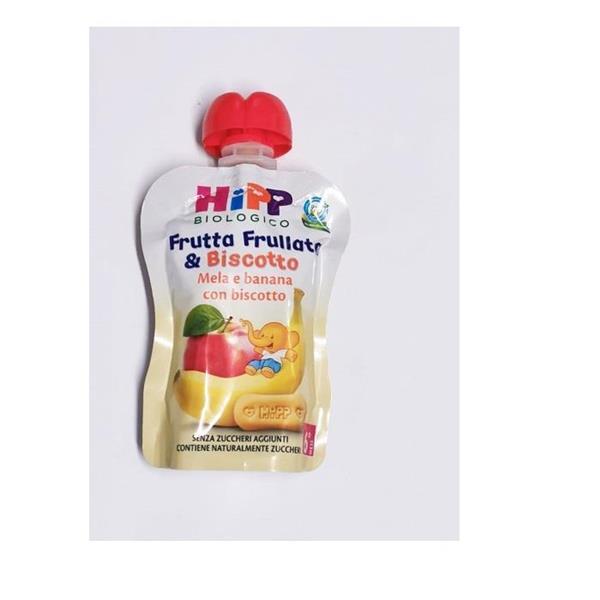 HIPP FRUTTA FRULLATA&BISCOTTO 90GR MELA BAN/BISCO