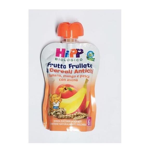 HIPP FRUTTA FRULLATA&CEREALI BAN/MANGO/PESC/AVE 90G