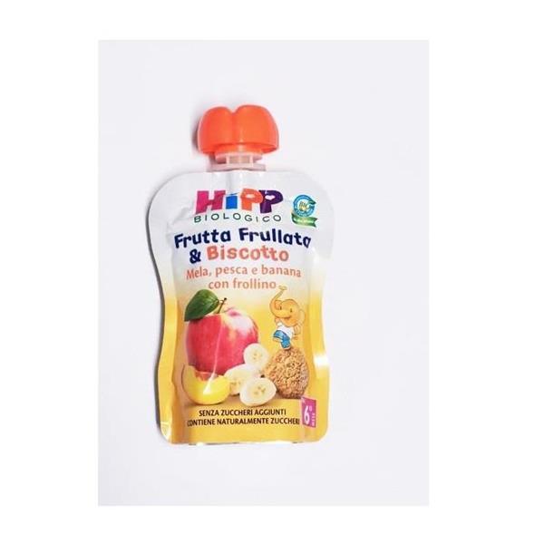 HIPP FRUTTA BISCOTTO MELA/PES/BAN E FROLLINO 90G
