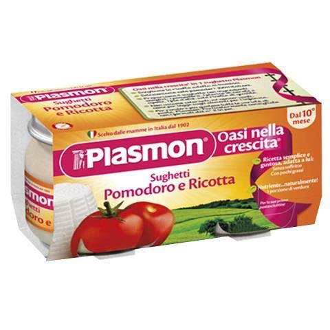 PLASMON OMO SUGO POMODORO RICOTTA GR 80X2