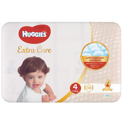 HUGGIES EXTRA CARE TG4  7-18KG