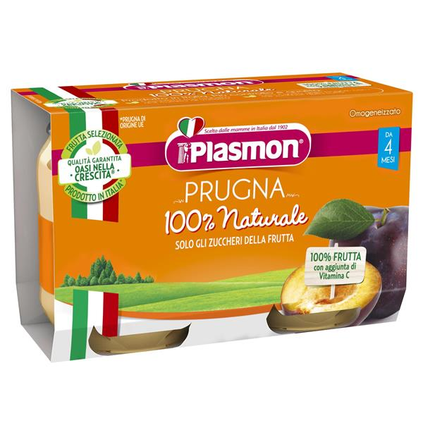 PLASMON OMO FRUTTA PRUGNA GR104X2