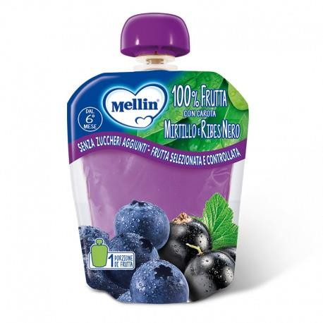 MELLIN POUCHES MIRTILLO E RIBES NERO 90GR