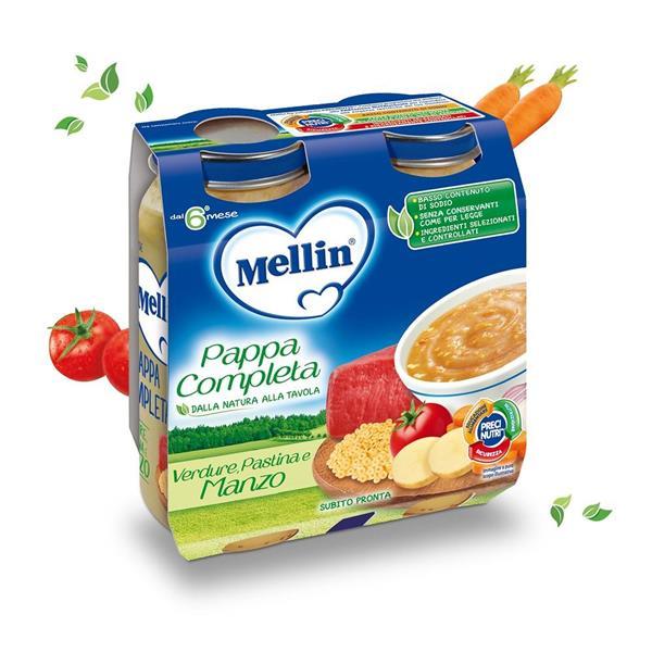 MELLIN PAPPA COMPLETA MANZO GR250X2