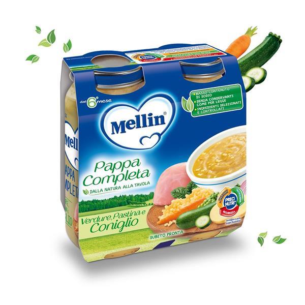 MELLIN PAPPA COMPLETA CONIGLIO GR250X2