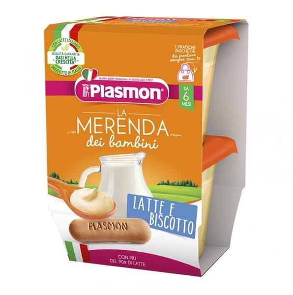 PLASMON OMO MERENDA LATTE BISCOTTO 2X120 GR