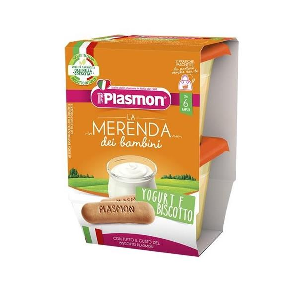 PLASMON OMO MERENDA YOGURT BISCOTTO 2X120 GR