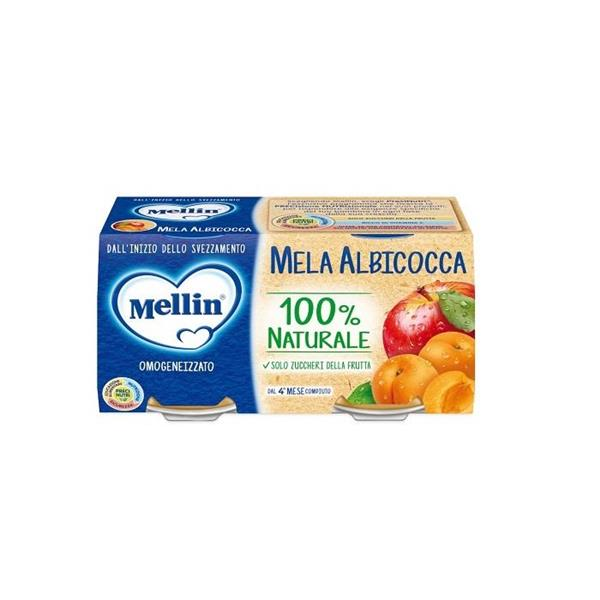 MELLIN OMO FRUTTA 2X100 MELA ALBICOCCA