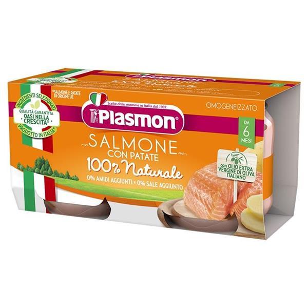 PLASMON OMO PESCE SALMONE GR 80X2