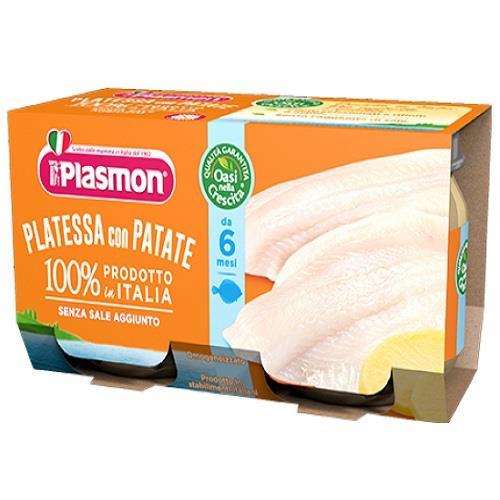 PLASMON OMO PESCE PLATESSA GR 80X2