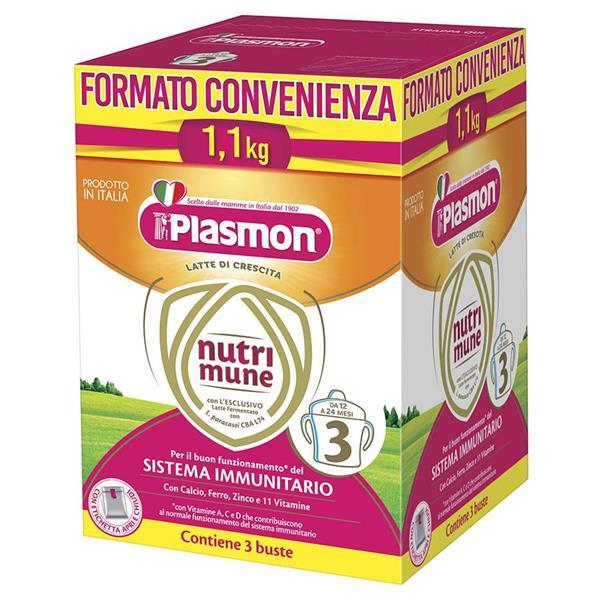 PLASMON LATTE NUTRIMUNE 3 POLVERE 1,1 KG