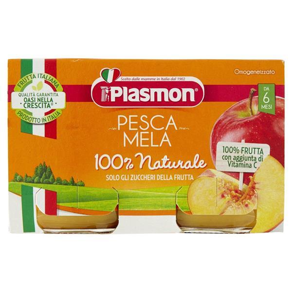 PLASMON OMO FRUTTA PESCA CON MELA GR 104X2