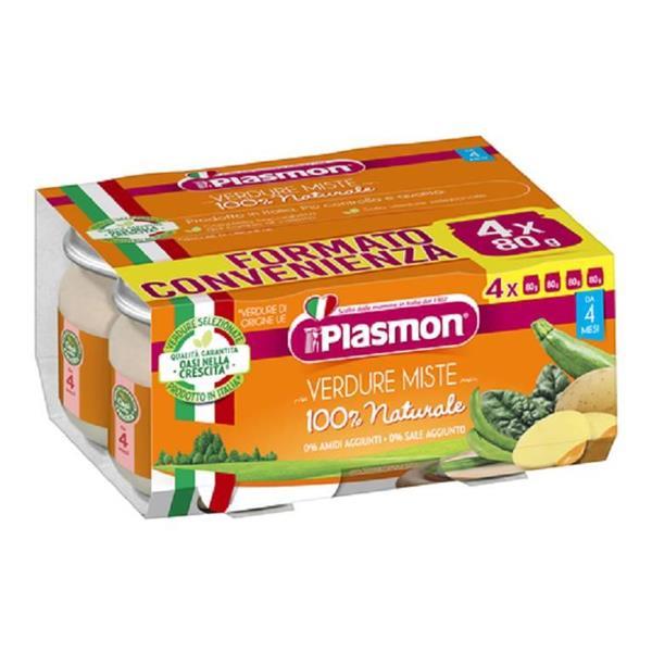PLASMON OMO VERDURE MISTE 4X80 GR